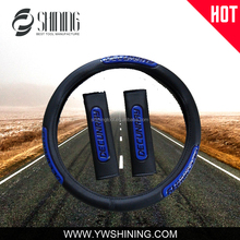 2015 NEW MODEL PVC PU LEATHER STEERING WHEEL COVER CAR SAFE BELT COVER