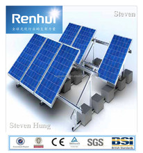 adjustable Renhui solar mounting system, renewable/green energy, Factory price , with triangle connecter