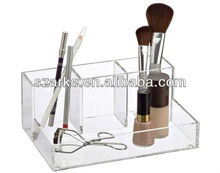 4-Section Acrylic Cosmetic Organizer for collecting makeup brush/manicure accessories/facial products