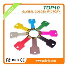 USB 2.0 Interface Type and 512mb--32gb Capacity usb key,Metal USB Flash Drive in Colors,Engraved Logo Key USB for Promotion