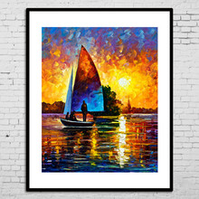 Modern Beautiful Scenery Oil Painting Frames Cheap