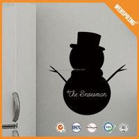 Popular snowman stickers,eco-friendly black wall decals blackboard sticker