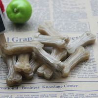 D708 Fashion 2 inch Natural Crystal Natural cowhide leather pressed bone Dog Chew bon