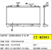 PLASTIC ALUMINIUM RADIATOR FOR MAZDA CAR RF5C-15-200/RF5C-15-200A