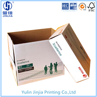 Electronic product packing corrugated paper box