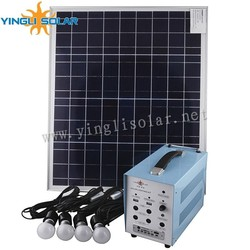 40W/18V with 4pcs 5w lamp solar lighting kit