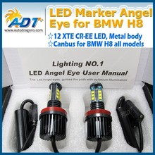 Promotions! LED Angel Eye For BMW Headlight, Car light H8 E92 Canbus LED Marker Angel Eyes 120W for BMW X3 X5 5/6/7 Auto Parts
