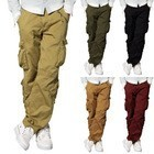 Match Mens Cargo Pants Combat Stylish Casual Pockets Trousers Multi-2345