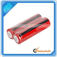 Red 2Pcs 3.7V 3000mAH Rechargeable 18650 Li-ion Battery (88006612)
