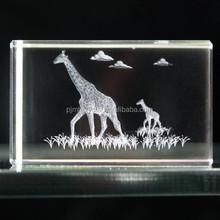 animal 3d laser crysal cube MH-Z020