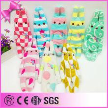 Different types of functional colorful rabbit shape plush pen bag