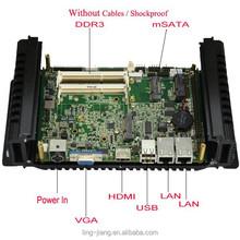 Intel atom d2550 processor 2xLAN 6xRs232 mini pc