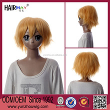Fashion short gold wig for mens hair accessories
