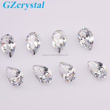Free sample china teardrop shaped crystal glass bead
