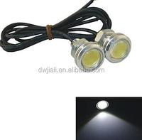 led car lighting indicator/eith cable/pilot 12V 1.5W 23MM Auto Car LED Eagle Eye DayTime Running Light Reverse Lamp-White Light