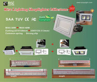 Hot selling shoplighter! MATRIX series 38w adjustible rectangular led down light with CE SAA Rohs