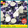 Violet color Round Shape Flat Back Rhinestones on sale