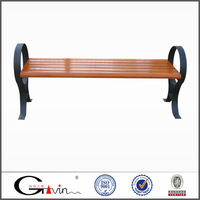 Outdoor backless wooden bench patio furniture manufacture China
