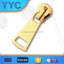 Heavy Duty Auto Lock Gold Metal Zipper Slider with OEM ODM Welcomed