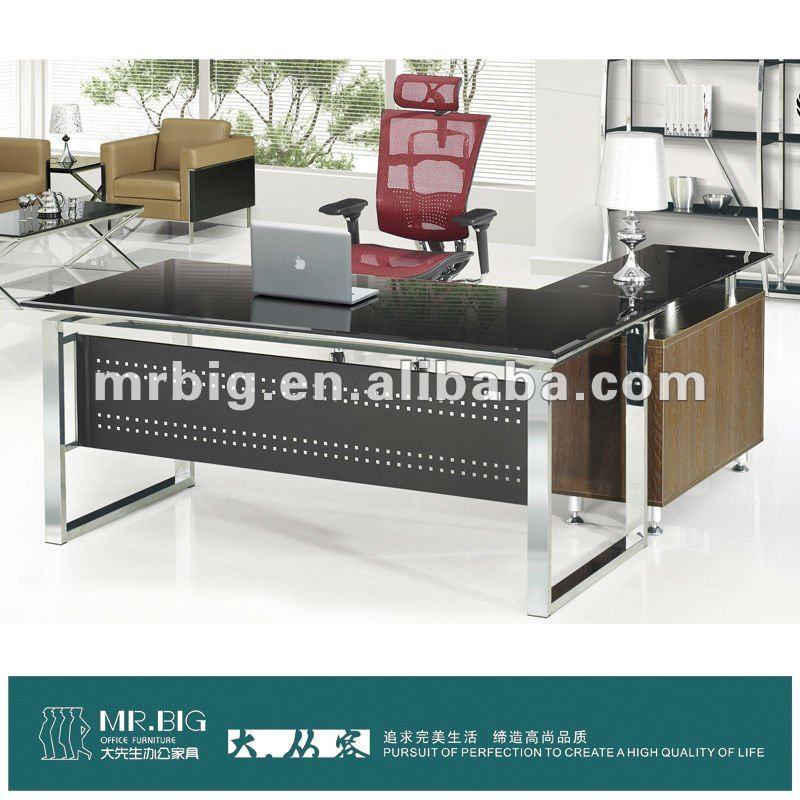 Db026 vidrio templado muebles modernos escritorio de for Muebles en ele modernos