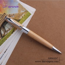 New design nature color popular wooden ball pen for office