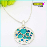 Fashion custom wholesale silver thin chain pendant necklace ,nice silver jewelry from China #18709