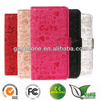 Cute wallet case for Samsung Galaxy S4 S IV GT- I9500