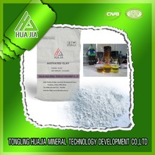 activated bleaching earth catalyst for petroleum or cotton seed oil