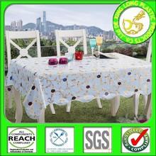 decoración del hogar manteles hechos en Turquía abarca borde pvc vinilo cuadrado cuadro de tela hacen cuadrado en chian