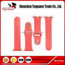 New silicone rubber band for apple watch,for apple watch replacement straps
