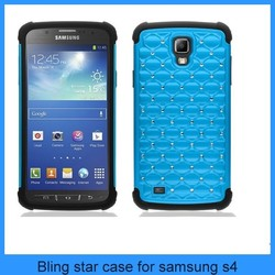 Shiny Bling Bling Star heavy duty case For Samsung galaxy s4 cover Combo 2 in1 case