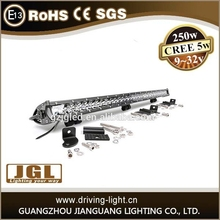 factory wholesale price 250w led light bar staight curved for your option 12v led light bar guangzhou led