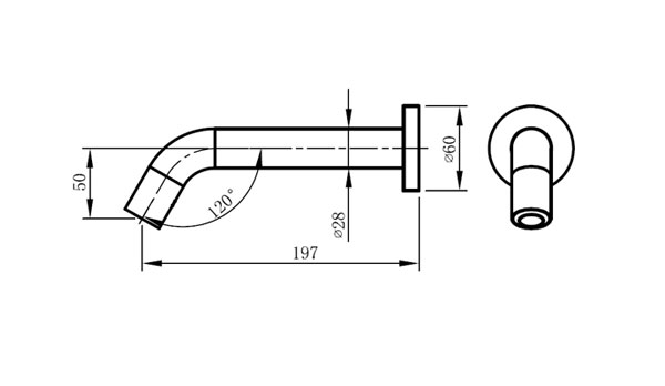 low energy draw battery operated wall faucet