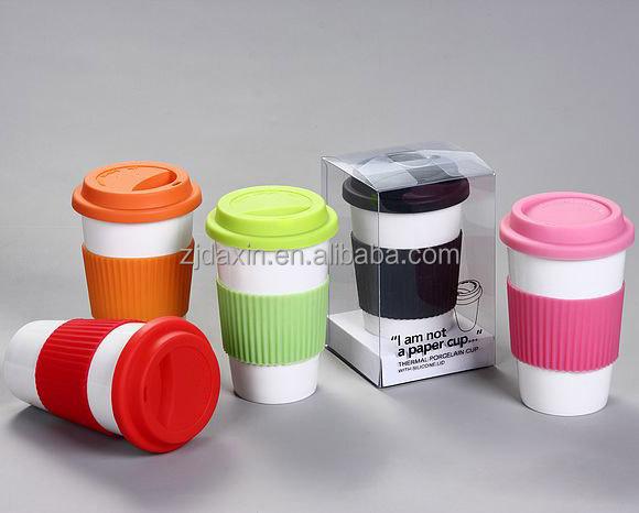 White Ceramic Coffee Mug Without Handle White Porcelain