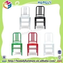 Cafe Aluminium Navy Chair