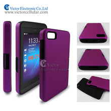 2014 mobile phone accessories factory in China new funky design PC silicone combo case for BlackBerry Z10