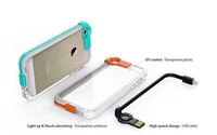 Fashion mobile Cell smart phone Case Design with usb charger cable back Cover for iPhone 5 5s