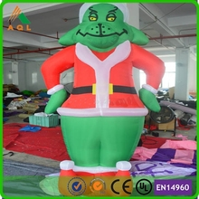 Christmas decoration supplies cheap inflatable grinch decoration for sale
