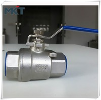 Wenzhou Hot Sale High Performance Factory Supply Stainless Steel CF8M 2PC Inner Thread DN50 Ball Valve