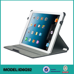 Hot Pressing Leather Multi stand leather Case for iPad Air 2 from factory