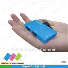 Forida usb2.0 combo 2 port USB 2.0 hub & SD/TF card reader