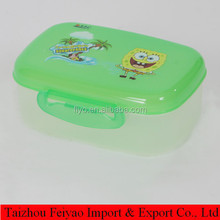 two floor square plastic lunch box for promotion