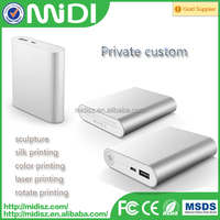 2015 rechargeable battery power station for xiaomi power bank 10400mAh