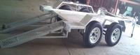 10x5 tandem trailer aluminum frame travel trailers