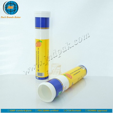 Fruits rich vitamin c tablet tube with spiral cap and unrivalled offset printing made in GMP plant-OEM/ODM acceptable