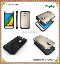 High Quality China Factory Cheap 2 in 1 Multi-Function Hybrid Combo Aegis Armor Gold Case Back Cover For Motorola G3
