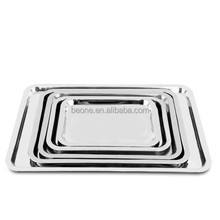 Stainless Steel Grape Plate Flower Tray Hotel Dish Fruit Plate