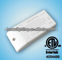 ETL/UL listed Dimmable led driver 12V 24V constant voltage 10w 26w 48w