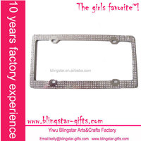 bling bling euro license plate frame