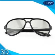PlPlastic Aviator Thicken Lens 3D Linear Polarized Glasses For Imax Cinema Use